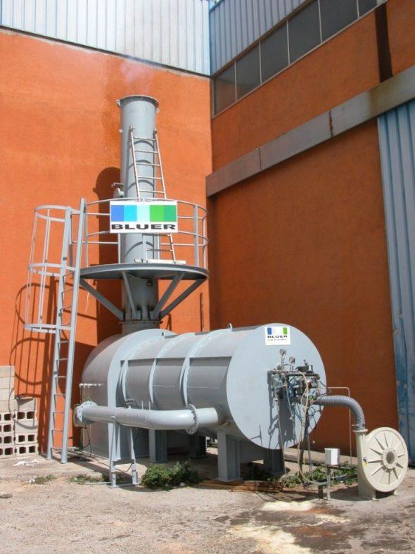 Incineración de glicerina, subproducto de la industria de biodiésel